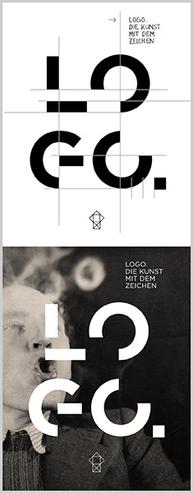 """Ausstellungsplakat """"Logo. Die Kunst mit dem Zeichen"""""""