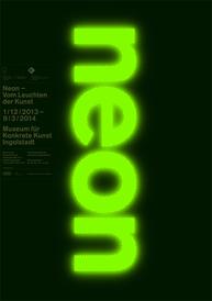 """Ausstellungsplakat """"neon"""""""