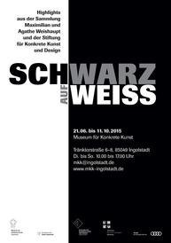 """Ausstellungsplakat """"Schwarz auf Weiß"""""""